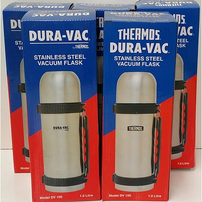 Thermos Dura Vac 1.0 Litre Vacuum Flasks - Lot of Five - Brand New