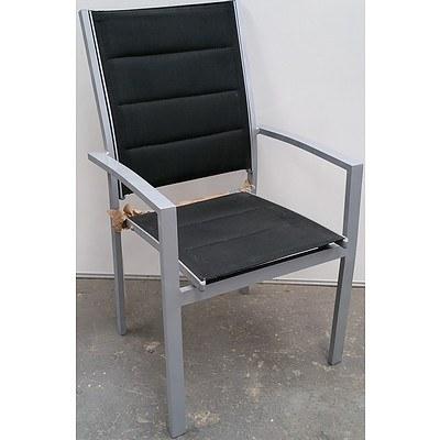 Aluminium Outdoor Chairs - Lot of Eight