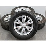 Set Of Four Ford Factory 18 Inch Alloy Wheels With Tyres to Suit Ford Ranger