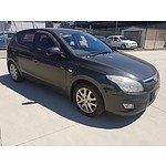 6/2009 Hyundai I30 SLX FD MY09 5d Hatchback Black 2.0L