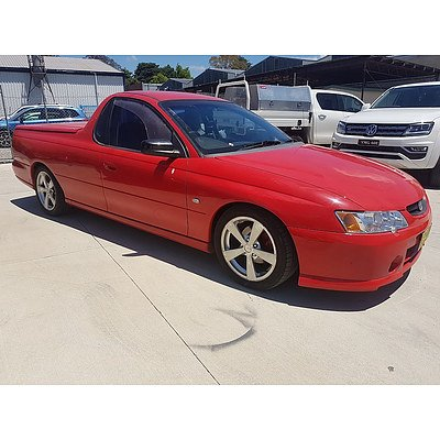 1/2003 Holden Commodore S VY Utility Red 3.8L