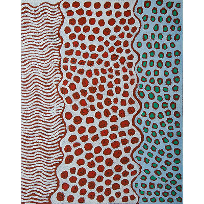 NAPALJARRI, Susan Gibson (b.1972) 'Women's Ceremony,' 2015. Stamp verso for Mimi Art Gallery, cat 2641. Certificate of authenticity available Acrylic on Linen