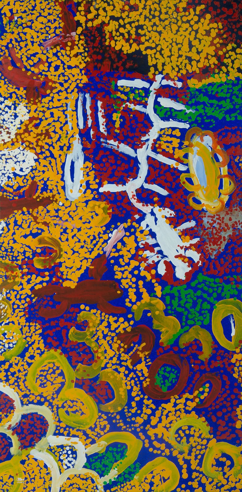 'MICK, Kuntjiria (b.1931) Waltja Waltjana, 2003. Provenance: Irrunytju Arts Centre (cat IRRKM03057) Acrylic on Canvas'