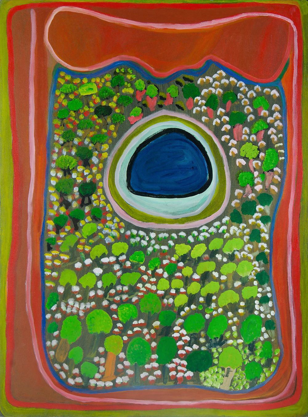 'CHUGUNA, Jukuna Mona (b.1933) Puntarr, 2003. Inscribed Mangkaja Arts (cat PC236/03) Acrylic on Canvas'