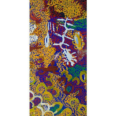 MICK, Kuntjiria (b.1931) 'Waltja Waltjana,' 2003. Provenance: Irrunytju Arts Centre (cat IRRKM03057) Acrylic on Canvas