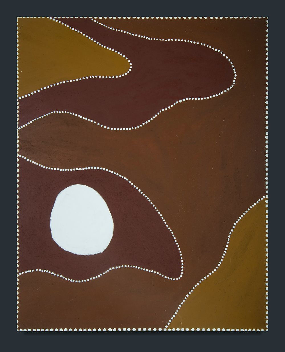 'COX, Katie (b.1958) Untitled, 2004. Signed verso. Inscribed Warmun Art Centre cat WAC720/04 Ochre on Canvas'