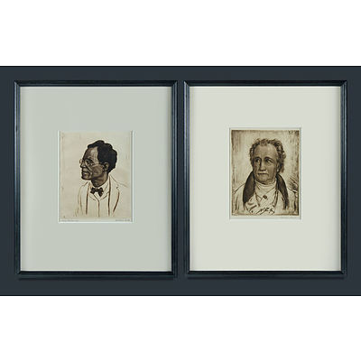 MICHL, Ferdinand (Czech 1877-1951) (2) Two Composers incl Gustav Mahler etc. Etching