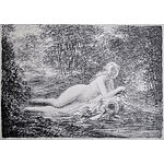 After RENOIR, Pierre-Auguste (French 1841-1919) Lady Bathing in Sunlight. Soft ground etching Print