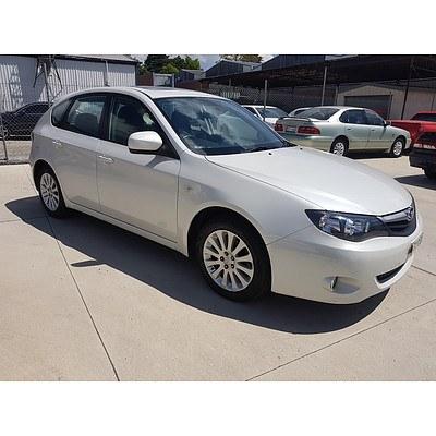 7/2011 Subaru Impreza R Special Edition (awd) MY11 5d Hatchback White 2.0L