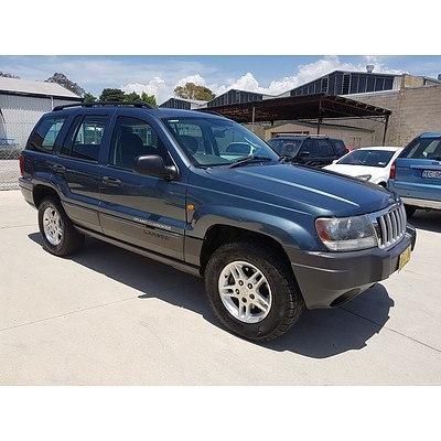 4/2004 Jeep Grand Cherokee Laredo (4x4) WG 4d Wagon Grey 4.0L