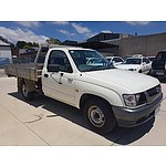 4/2003 Toyota Hilux Workmate RZN149R C/chas White 2.7L