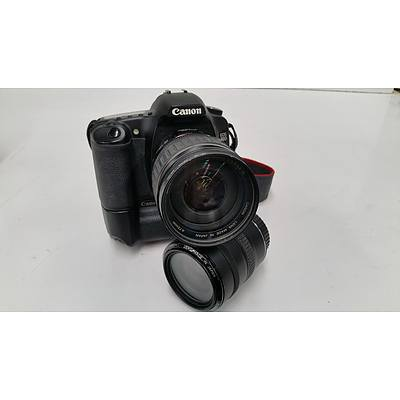Canon EOS 30D 8.0 Megapixel Digital Camera with Two Lenses
