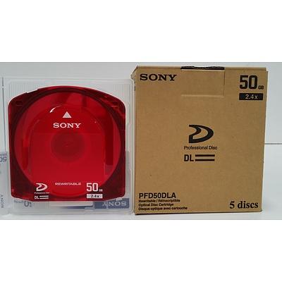 Sony PFD50DLA XDCam Discs - Lot of 100