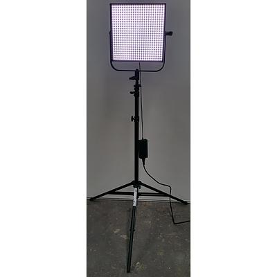 Litepanels 1 x 1 D-Flood Photographic Studio LED Litepanels with Tripods - Lot of Four