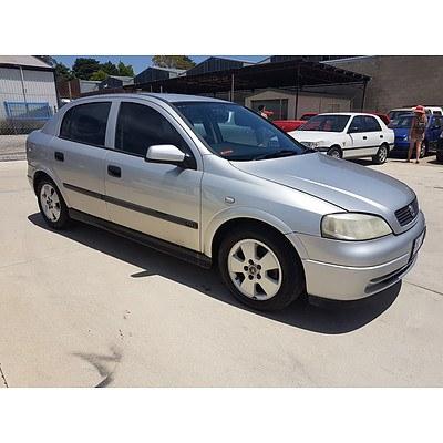 4/2002 Holden Astra CD TS 5d Hatchback Silver 1.8L