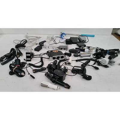 Bulk Lot of Assorted Power Supplies and Adaptors