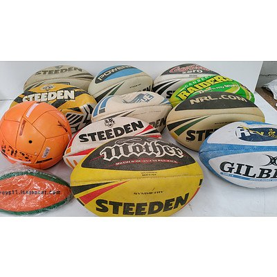 Collection of Used Footballs