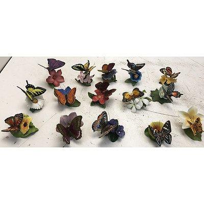 Fifteen Ceramic Butterflies