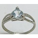 10ct White Gold Aquamarine Ring