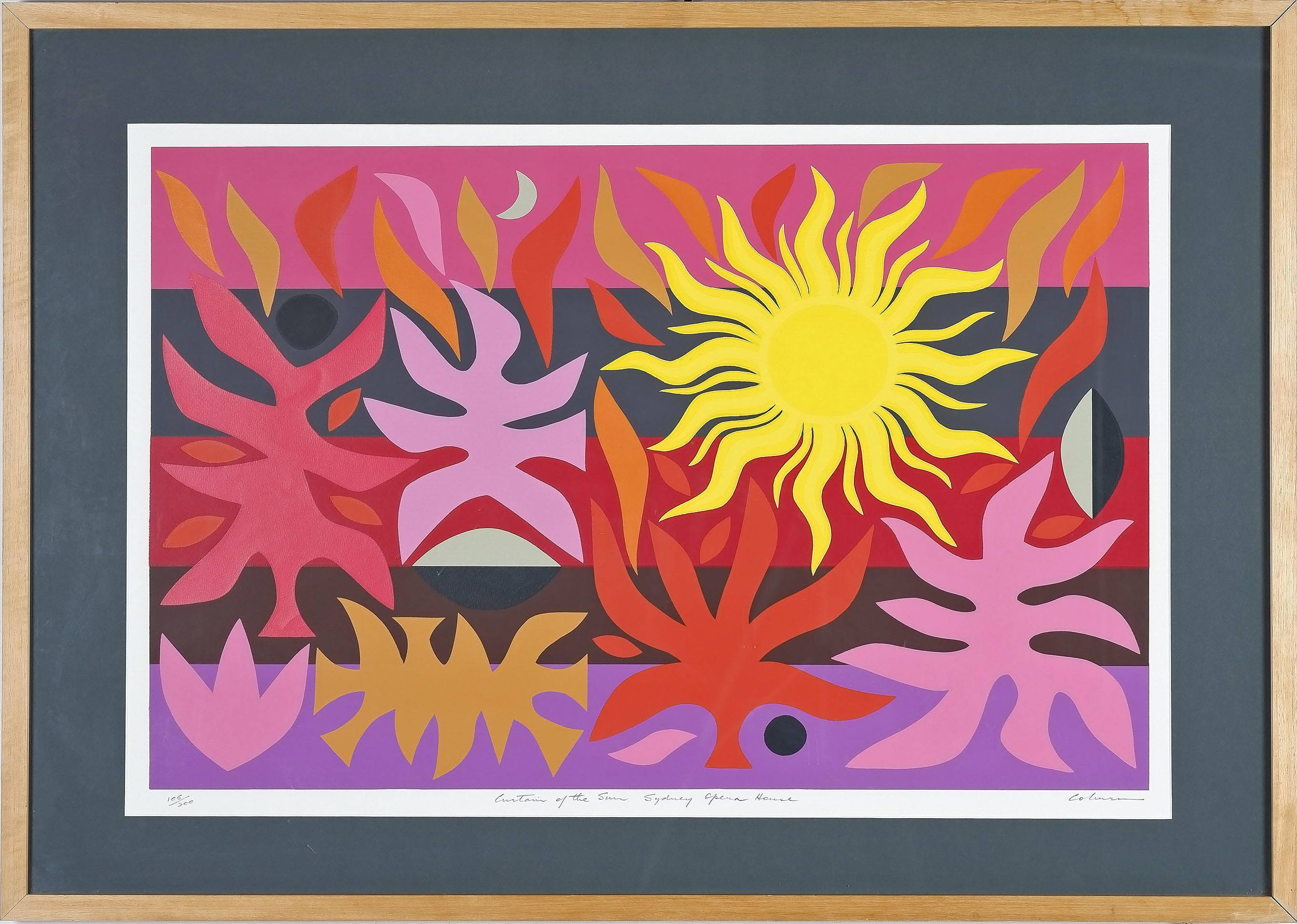 'John Coburn (1925-2008) Curtain of The Sun Sydney Opera House Screen Print Edition 106/200'