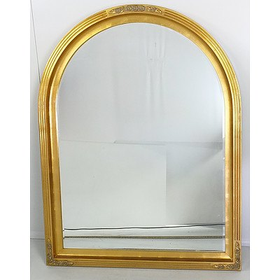 Large Giltwood Framed and Beveled Glass Mirror