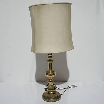 Large Brass Base Table Lamp
