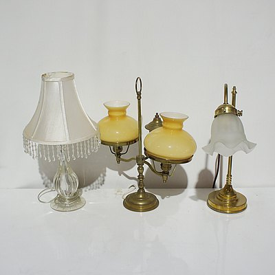 Three Vintage Table Lamps