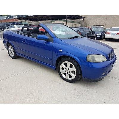 6/2002 Holden Astra Convertible TS 2d Convertible Blue 2.2L