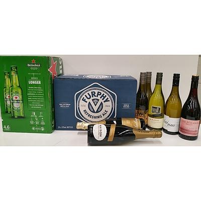 Two Cartons of Heineken, Furphy Beer and Seven Bottles of Wine