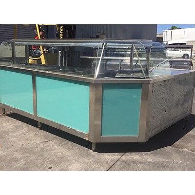Stainless Steel Corner Bain Marie