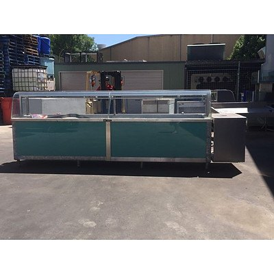 Refrigerated Stainless Steel Display Cabinet