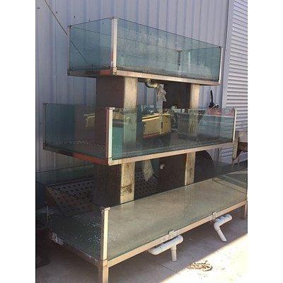 3 Tier Glass Fish Tank