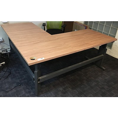 Laminate Height Adjustable Corner Office Desk