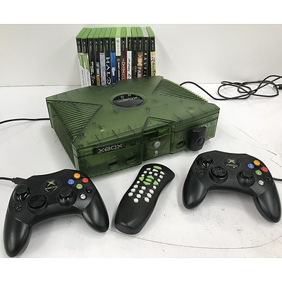 Original XBOX Console Halo Special Edition with 14 Games