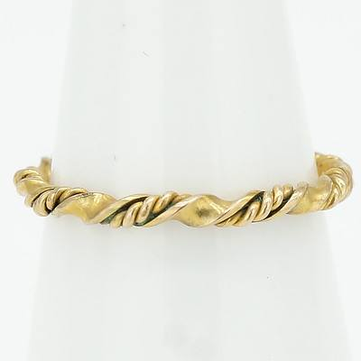 9ct Yellow Gold Twisted Rope Ring