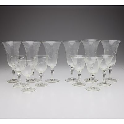 Collection of Stem Glassware, Assorted Branded Glassware, and Decanter