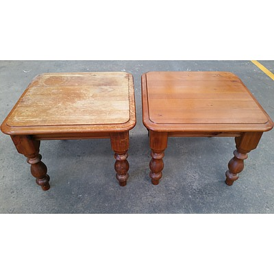 Pine Occasional Tables - Lot of Two