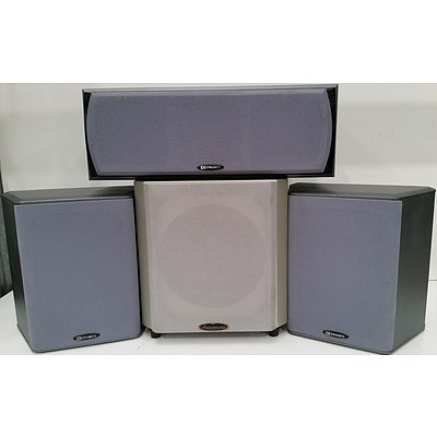 DB Dynamics and Accusound Home Theatre Speakers - Lot of Six