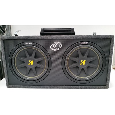 "Kicker DC10 Dual 10"" 300 Watt Subwoofer Enclosure"