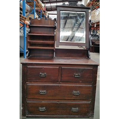 Edwardian Dresser With Mirror