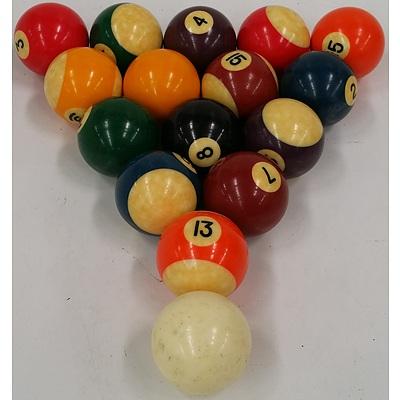 Full Set of Pool Balls