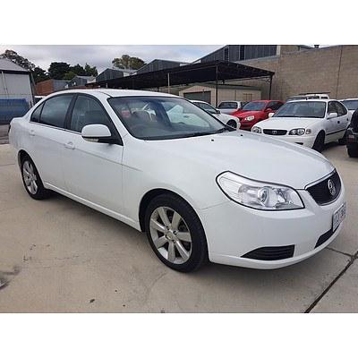7/2011 Holden Epica CDX EP MY11 4d Sedan White 2.5L