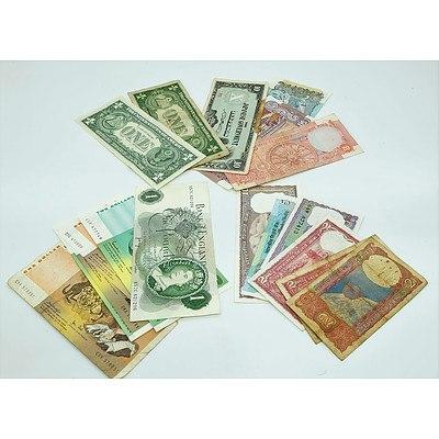 Group of Australian & International Notes