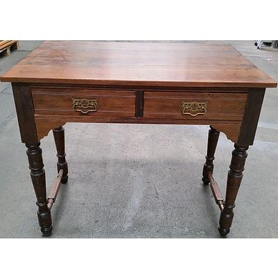 Vintage Oak and Pine Writing Desk