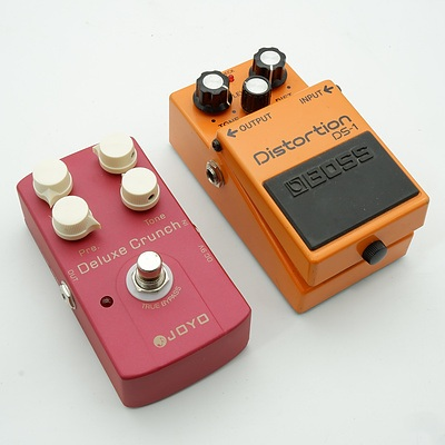 Boss DS-1 and Joyo Deluxe Crunch Guitar Pedals
