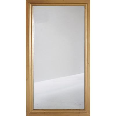 Giltwood Framed Mirror and Wooden Stool