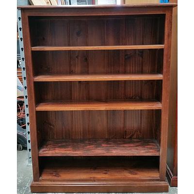 Dark Maple Veneer Bookshelf