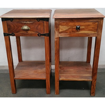 Indian Sheesham Tables - Lot of Two