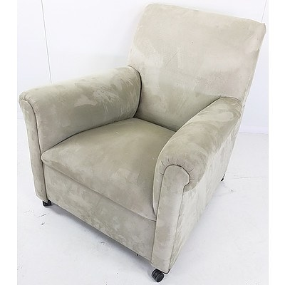 Green Fabric Upholstered Armchair