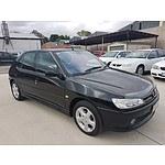 12/2000 Peugeot 306 XT  5d Hatchback Black 2.0L